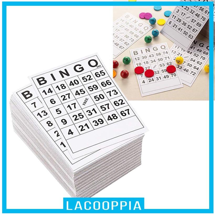 [LACOOPPIA] 60張BINGO遊戲卡單張60張60張面60張卡6 x 7英寸