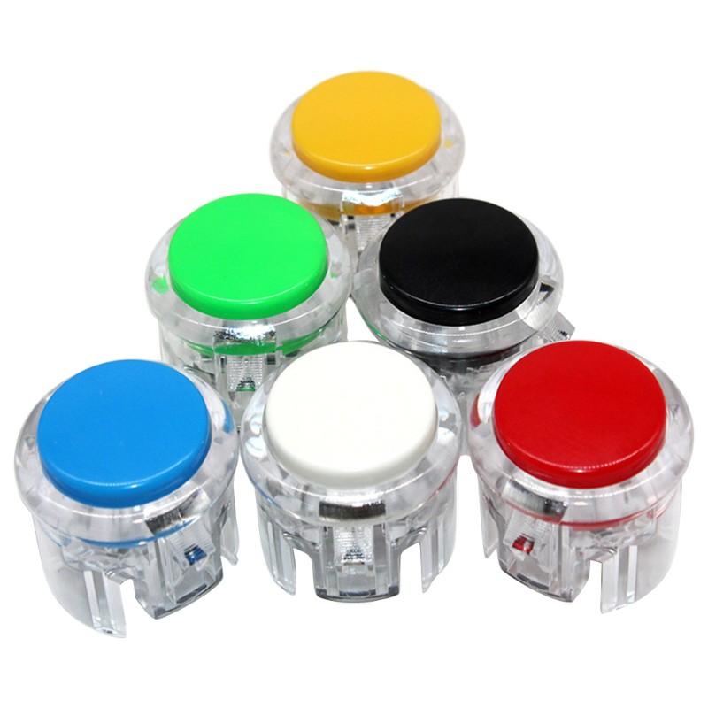 QUU 復古街機遊戲按鈕無點擊聲音微型開關按鈕30MM開始按鈕開關遊戲按鈕開關