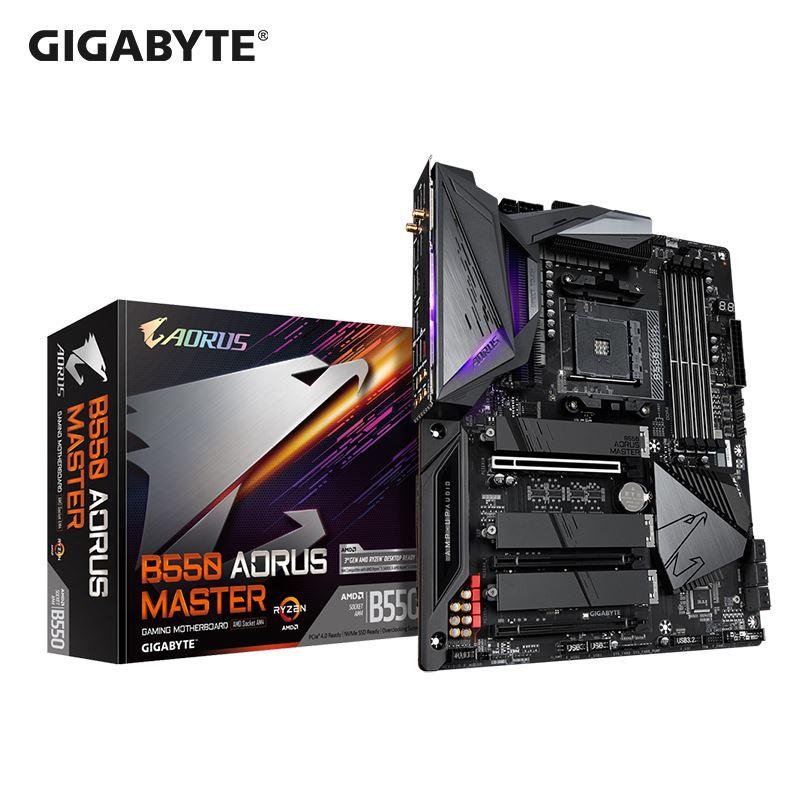 超低價~技嘉B550 AORUS MASTER主機板桌上型電腦電腦主機板AMD遊戲大板支持5800X