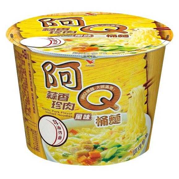 【阿Q桶麵】蒜香珍肉,12桶/箱,平均單價35.75元