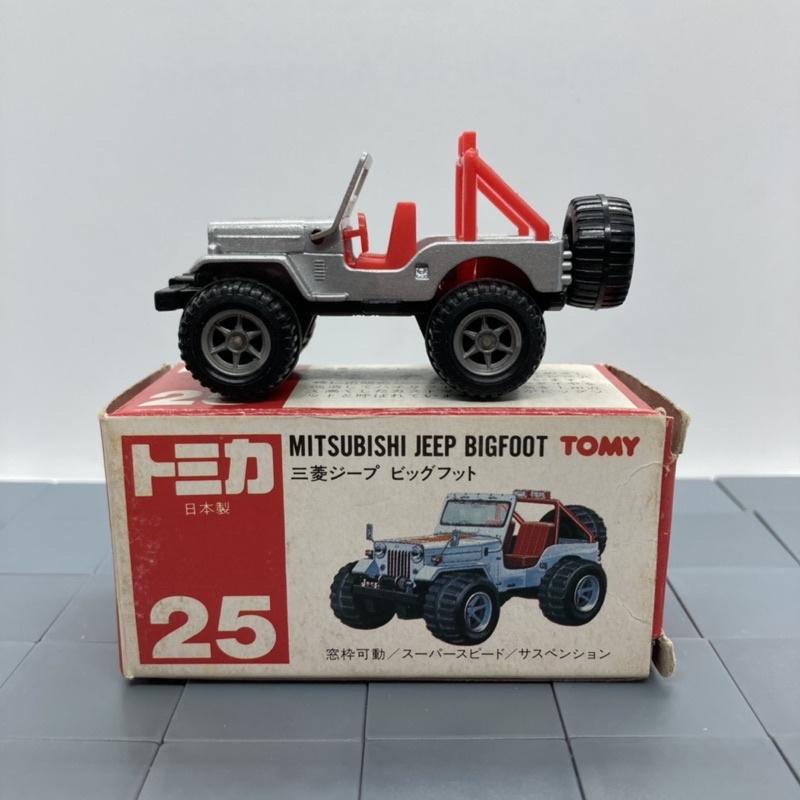 Tomica 多美 日本制 紅標 No 25 三菱 Mitsubishi  JEEP Bigfoot 大腳