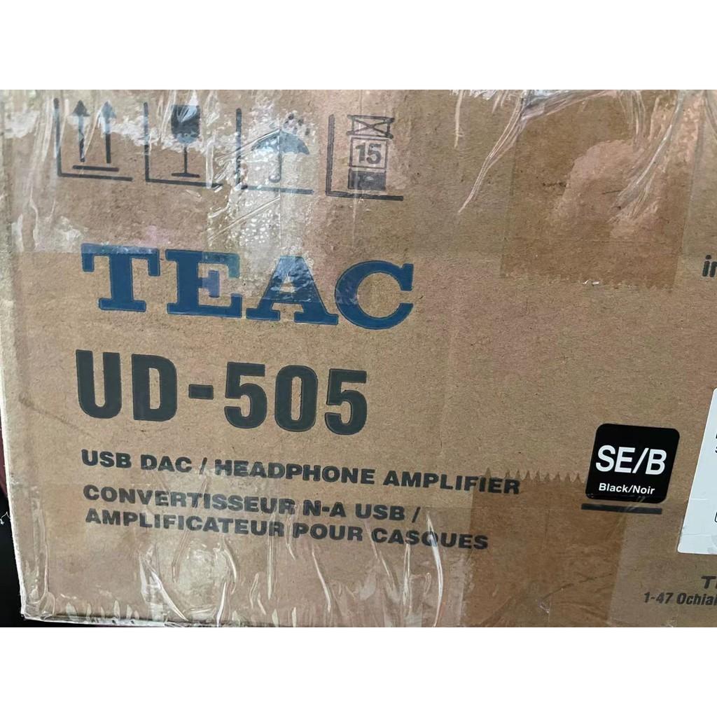 拆封品 TEAC UD505 SE HWA 藍牙版 DSD512 解碼器 耳擴 一體機 平輸 9.9成新 誤下標 可面交
