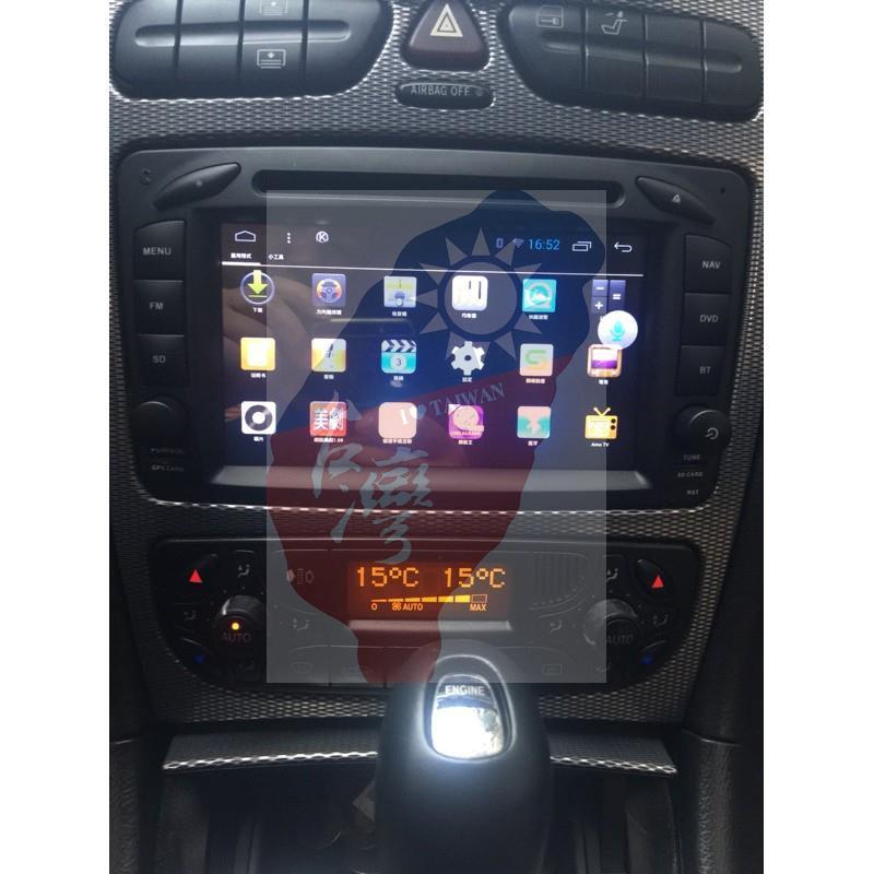 M-Benz賓士W168 W203 CLKC209 W209 Android安卓版 觸控螢幕主機 導航/DVD
