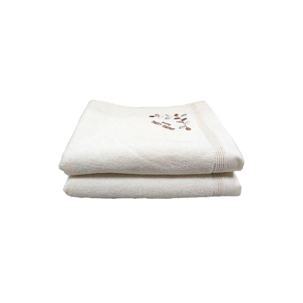 【台灣興隆毛巾】繡葉子有機棉毛巾 2入單色