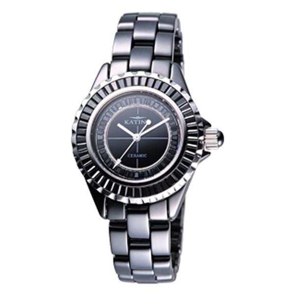 【KATINO】黑面陶瓷石英錶K303BZB-B