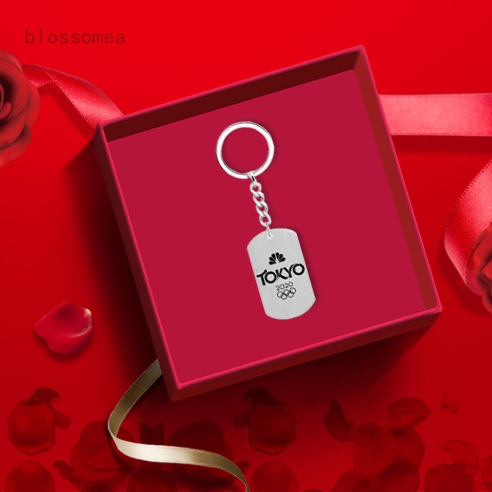 日本 2020 年東京奧運不銹鋼吊墜鑰匙扣\ / 鑰匙圈紀念品男女通用女士男士鑰匙扣