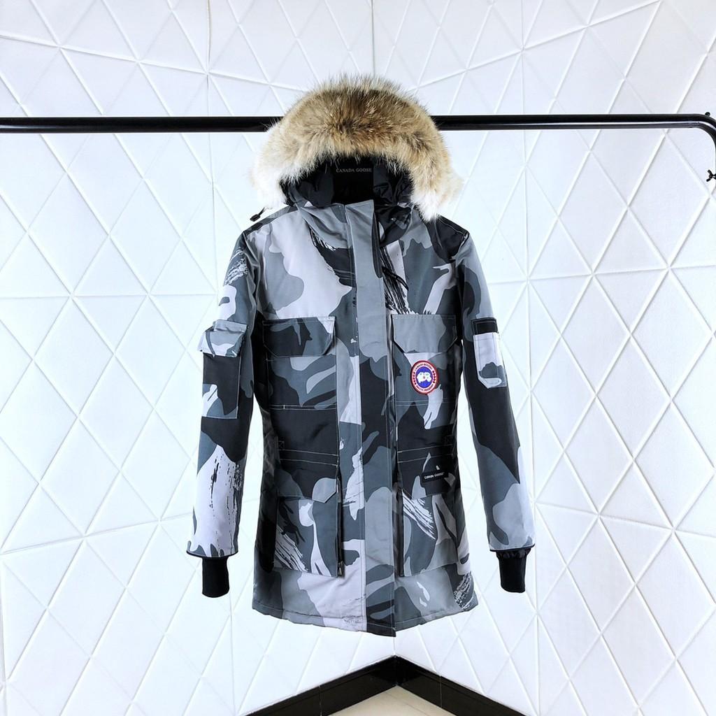 加拿大 Ganada Goose加拿大鵝 中長款連帽羽絨外套加厚保暖派克服大鵝男女情侶外套Exped4347