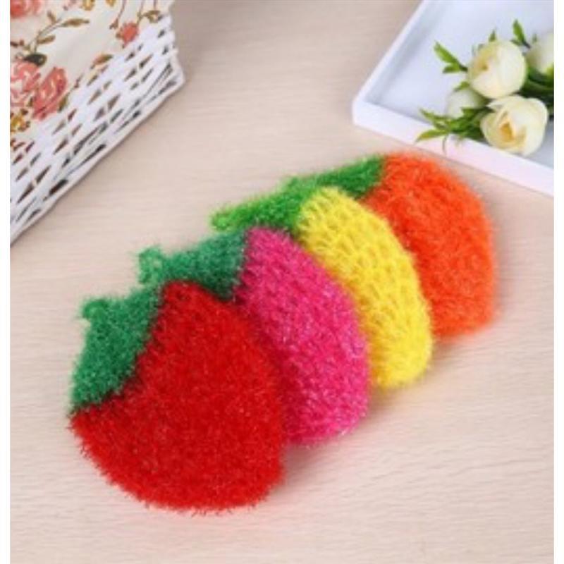 現貨-29元-韓國製熱銷創意不沾油草莓造型洗碗巾菜瓜布洗碗布草莓菜瓜布-顏色隨機出貨