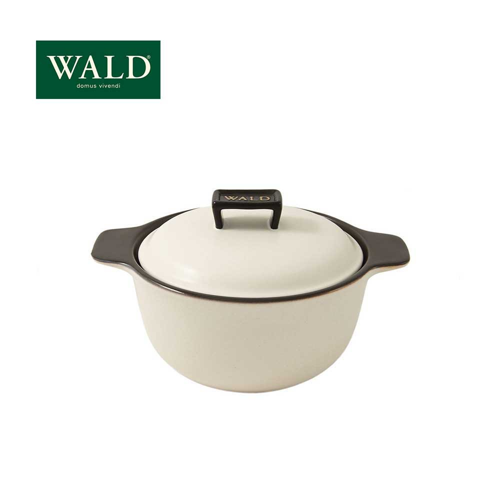【WALD】 陶鍋系列-20CM燉鍋(粉白)(附原廠彩盒)