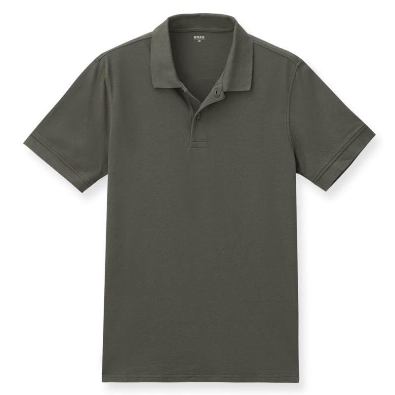 【ERSS】素色短袖POLO衫 - 男 灰褐色 K70024