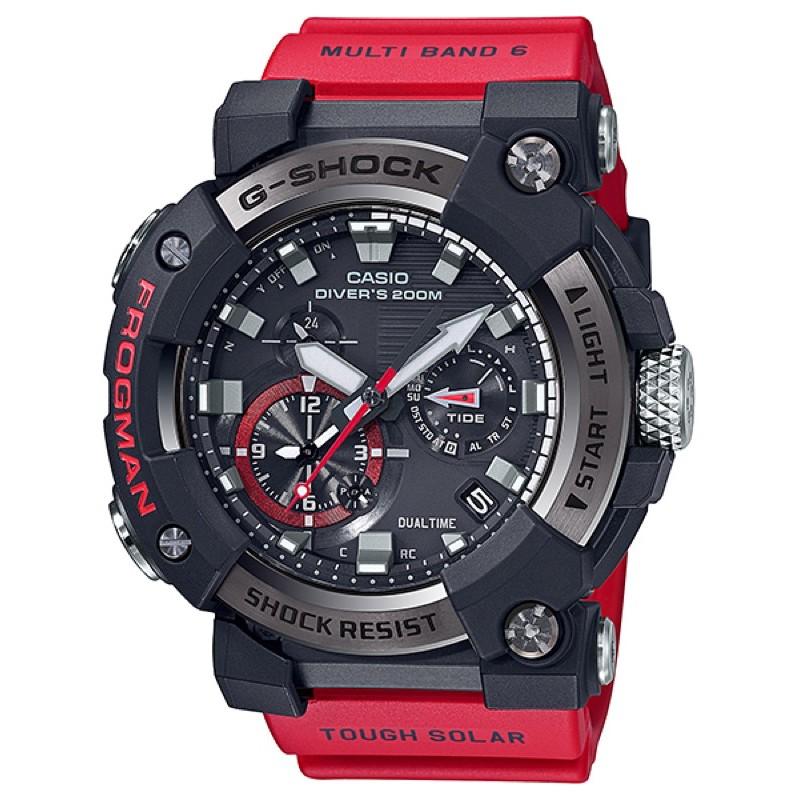 🏠實體店家出貨🎁買錶送好禮#CASIO卡西歐G-SHOCK 蛙人系列紅色潛水錶GWF-A1000-1A4