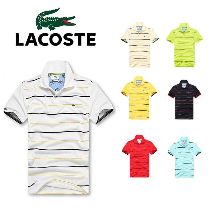 新款 Lacoste 法國鱷魚POLO衫夏季網眼條紋排汗純棉翻領立領短袖 tshirt LACOSTE Polo Tee