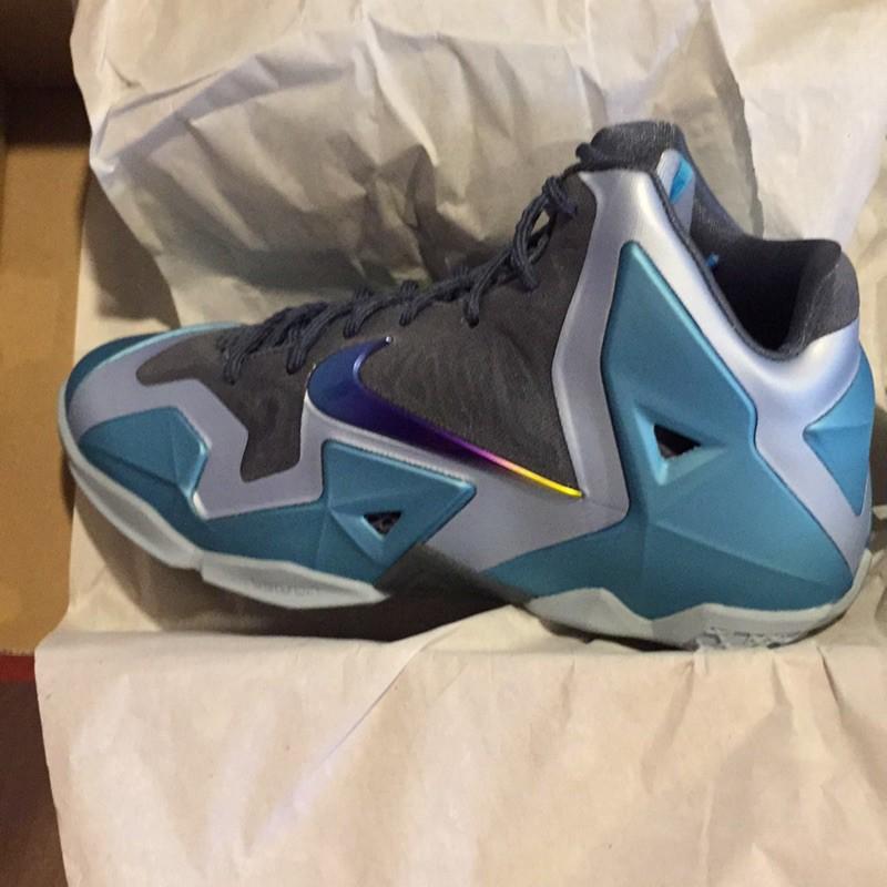 Nike lebron 11 lbj11 藍灰 Gs 女鞋