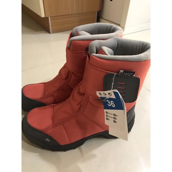 兒童雪鞋 雪靴。迪卡儂尺碼 36。(全新未拆標)