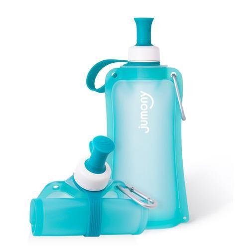 韓國 sillymann 100%簡約便攜捲式鉑金矽膠水瓶-550ml-薄荷藍[免運費]