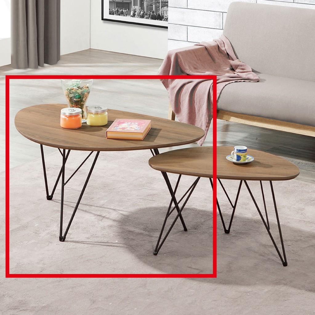 【90cm大茶几-A323-3】實木原木玻璃 大理石長方桌 大小邊几 圓桌  【金滿屋】