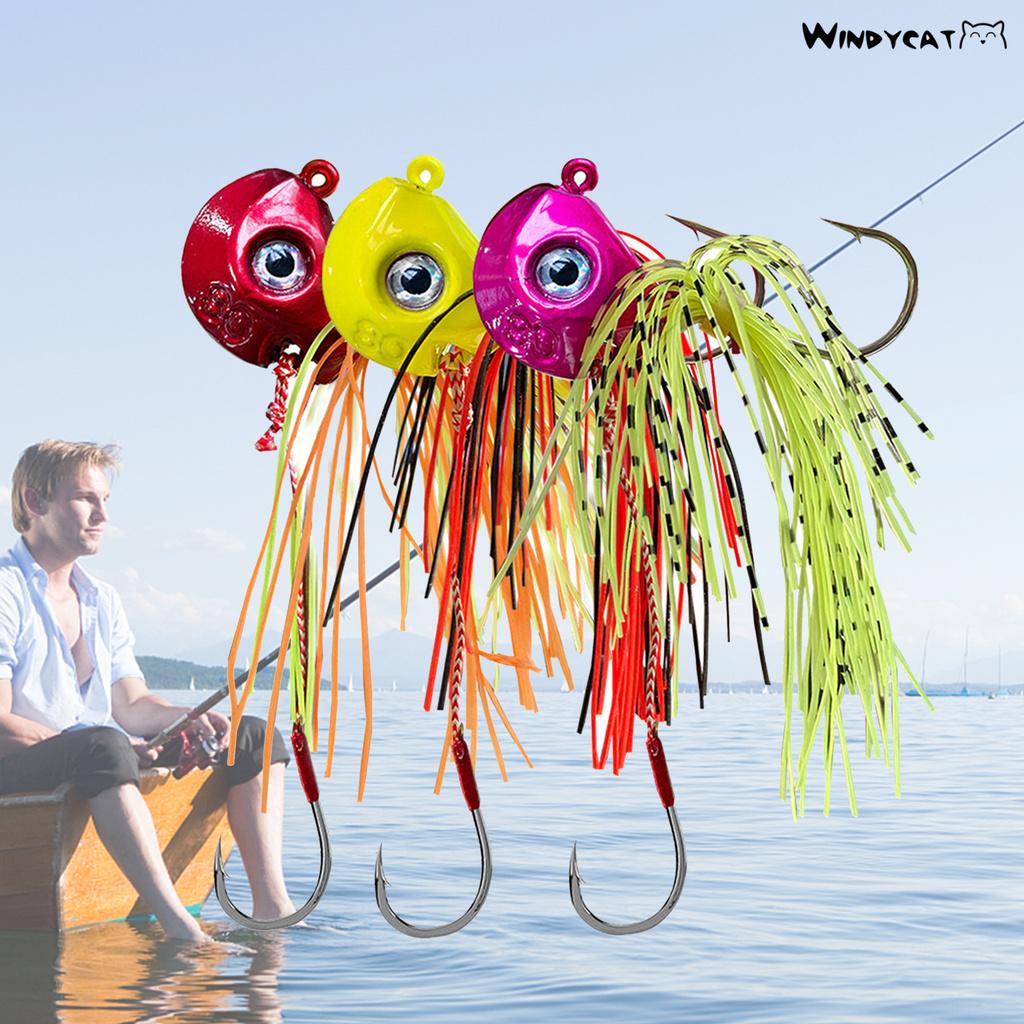 Windycat【釣魚必備】40g-100g鉛頭餌船釣鉛頭鈎 深海餌魚鈎炎月魚餌
