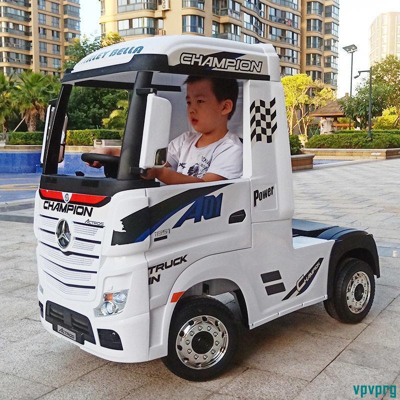 奔馳卡車頭兒童電動汽車四輪遙控寶