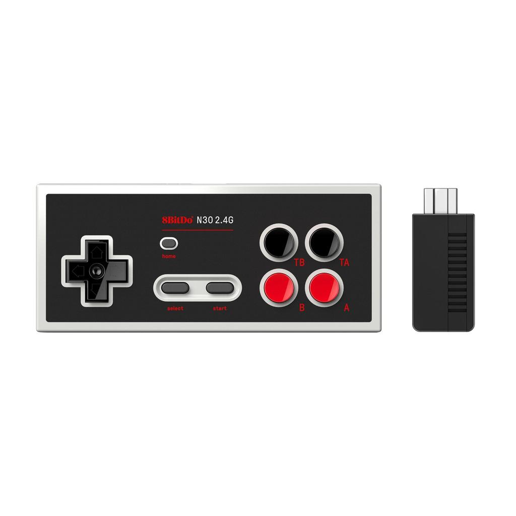8Bitdo八位堂N30 2.4G經典無線手柄 NES迷你游戲機即插即用可連發【力天電子】