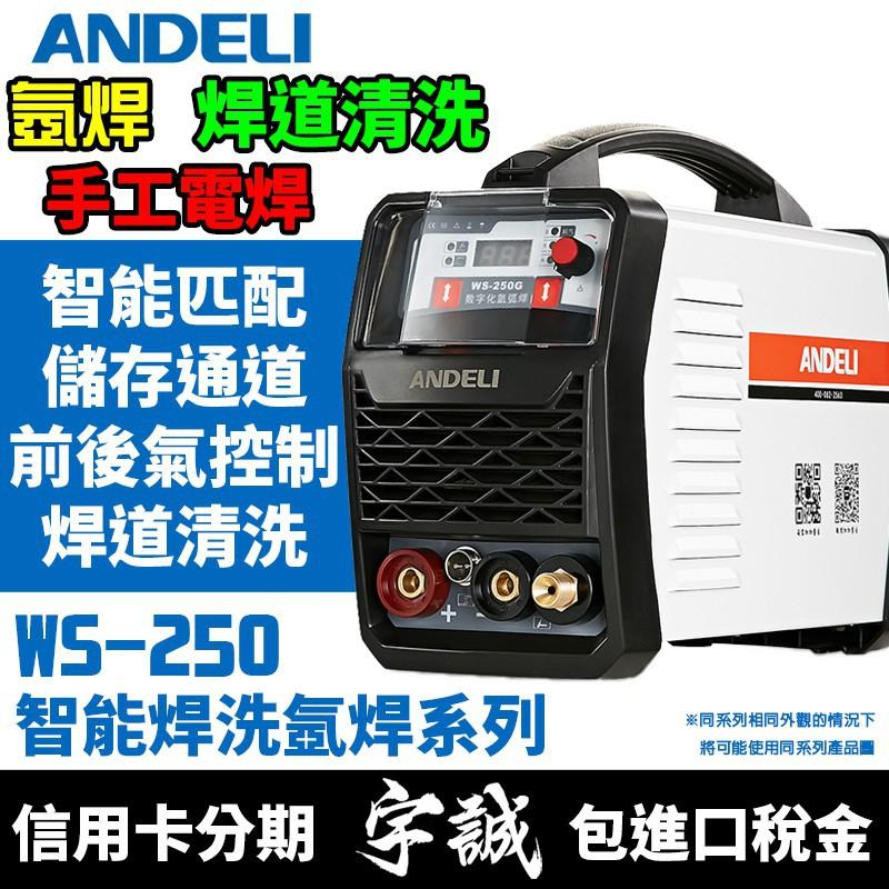 菜菜2號ANDELI安德利WS-250G氬焊機TIG變頻式電焊機WS250雙用焊機220V氬弧焊機IGBT焊道清洗機三用
