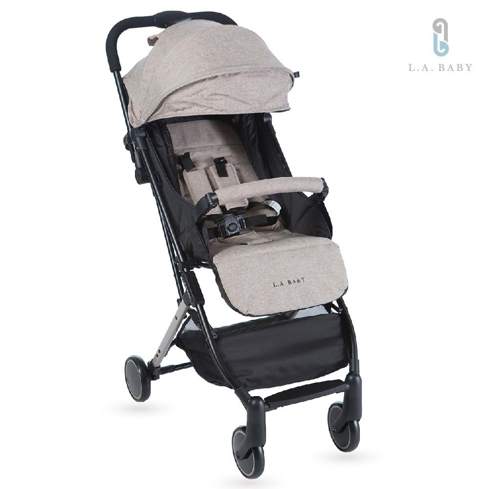 【L.A. Baby】城市輕旅嬰兒手推車(奶油卡其)