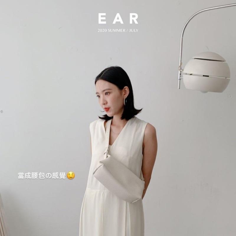 全新降價轉賣 原價1580 Ear studio 荔枝紋兩用肩背包 白/藍