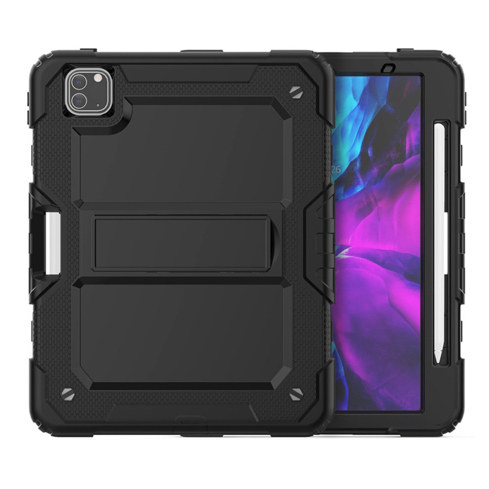 IPad Mini 1 2 3 4 5 2019 多功能背帶鎧甲盾雙層軟硬殼支架設計平板保護殼保護套(含背帶)