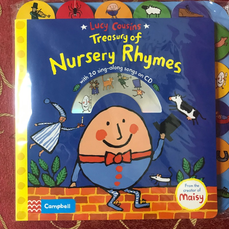 全新未拆封外文童書+CD 小鼠波波Lucy Cousins Treasury of Nursery Rhymes
