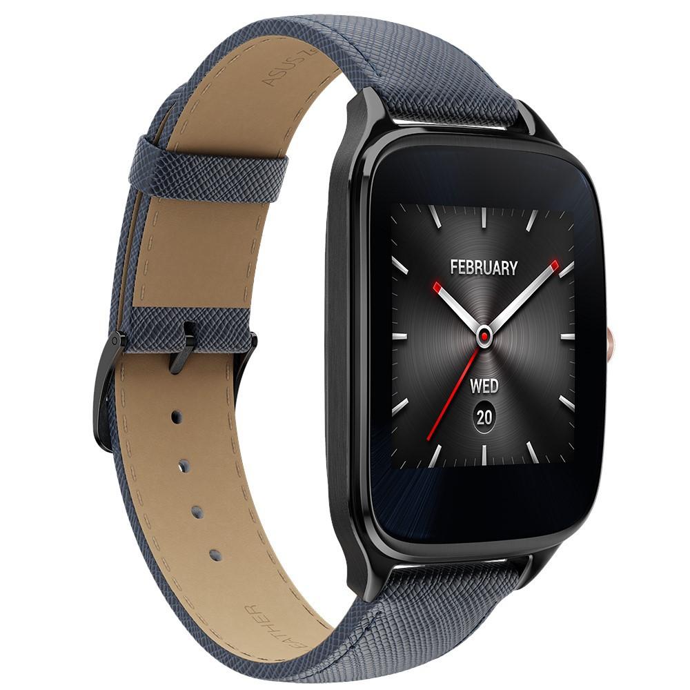 【ASUS華碩】ZenWatch 2 (WI501Q) 22mm智慧手錶 智慧.腕美上手 真皮伯爵藍 男款 福利品