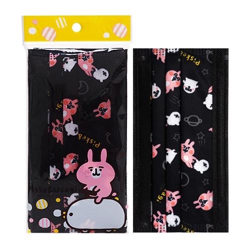 卡娜赫拉的小動物 拋棄式防塵口罩-成人黑(5片裝)【小三美日】D790547