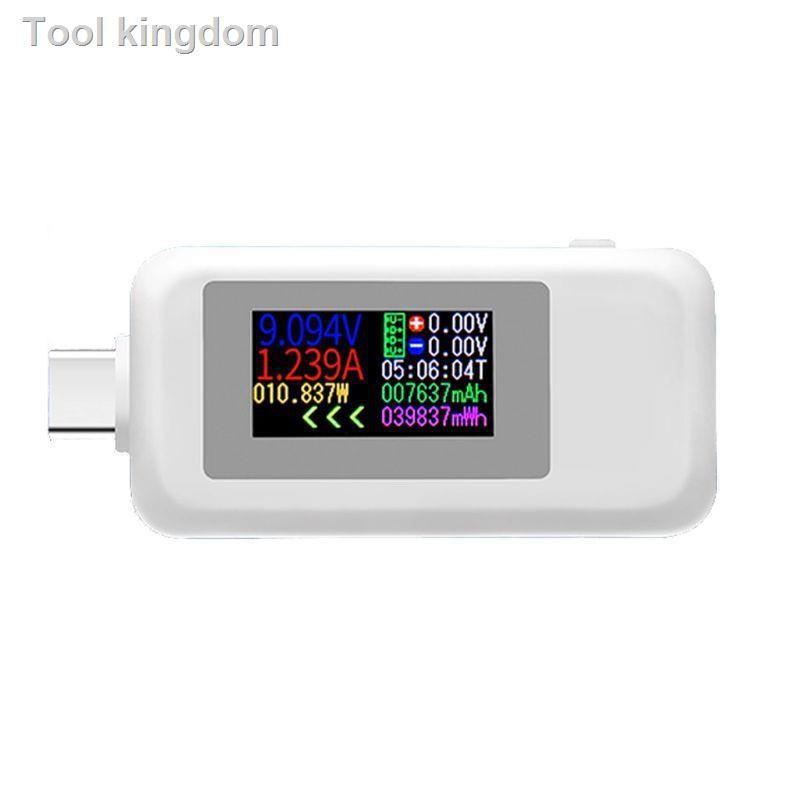 ❆AOT.KWS-1902C Type-C彩色顯示屏USB測試儀電流電壓監視器功率計