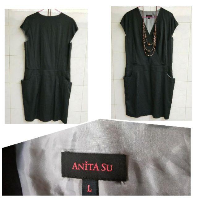 Anita Su 黑色洋裝-L