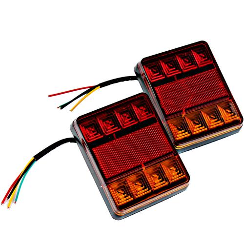 【2個】12V 貨車LED尾燈 高亮度 防水後燈 霧燈 剎車燈 警示燈 方向燈 卡車 拖車 大篷車 通用