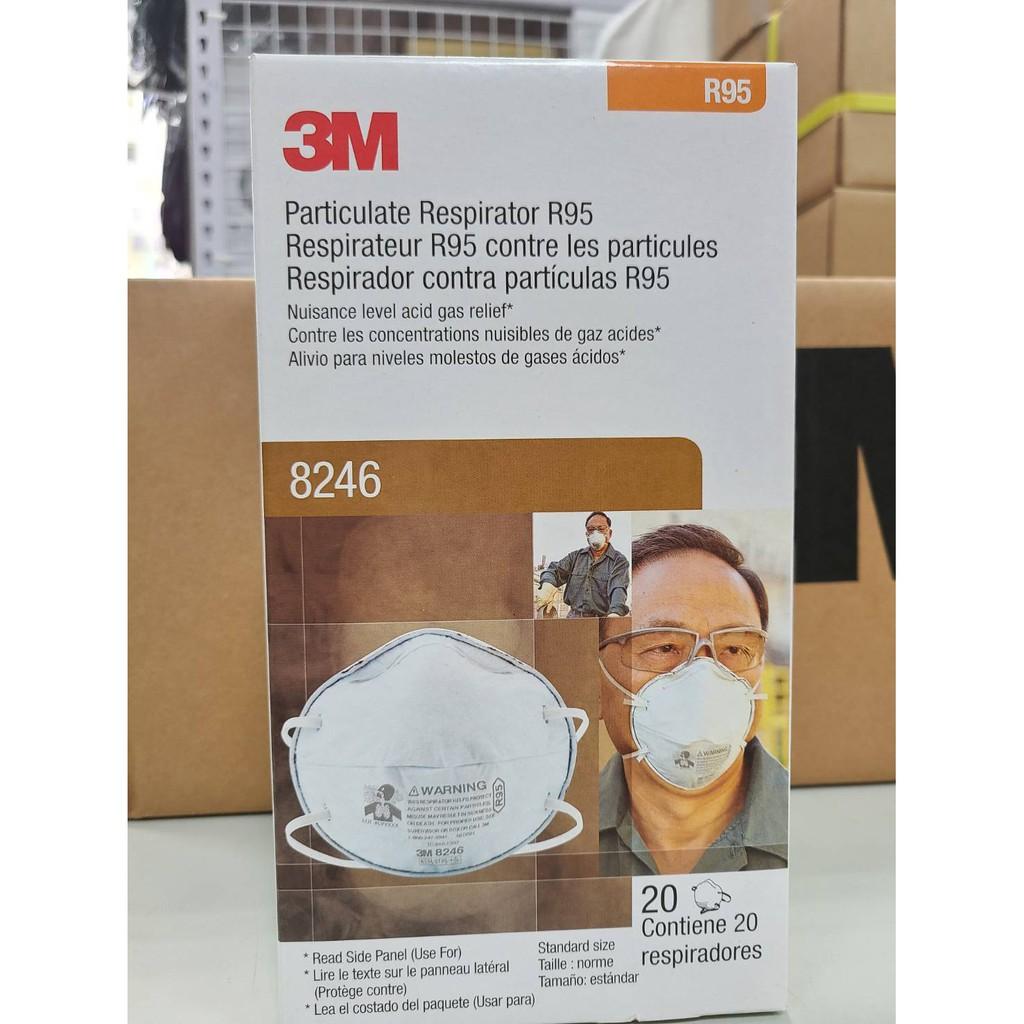 現貨 3M 8246  R95 酸性氣體口罩 - 碗型 活性碳 酸性氣體 粉塵 R95 拋棄式  工業安全 -單個