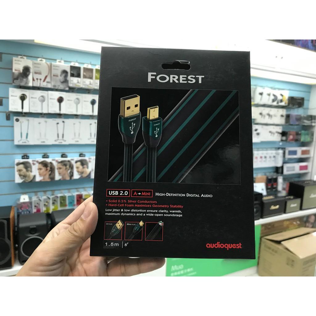 禾豐音響 1.5m A-Mini 皇佳公司貨 美國 Audioquest Forest USB Cable 傳輸線