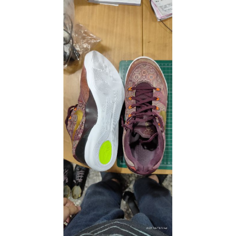 Kobe9 修鞋.白底.科比 -7-9換底