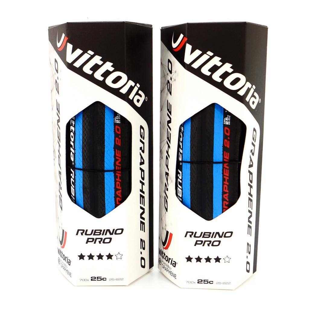 維多利亞自行車公路車黑藍色外胎輪胎 Vittoria Rubino Pro G2.0 700x25C