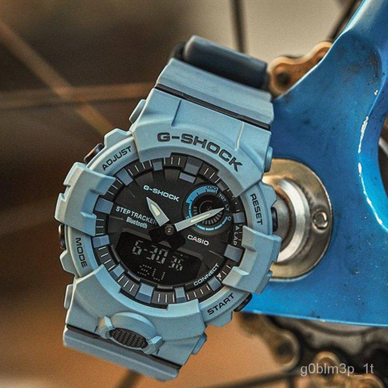 卡西歐Casio G-SHOCK霧霾藍腕錶可連接手機冰刃男女錶GBA800UC-2A XZDj