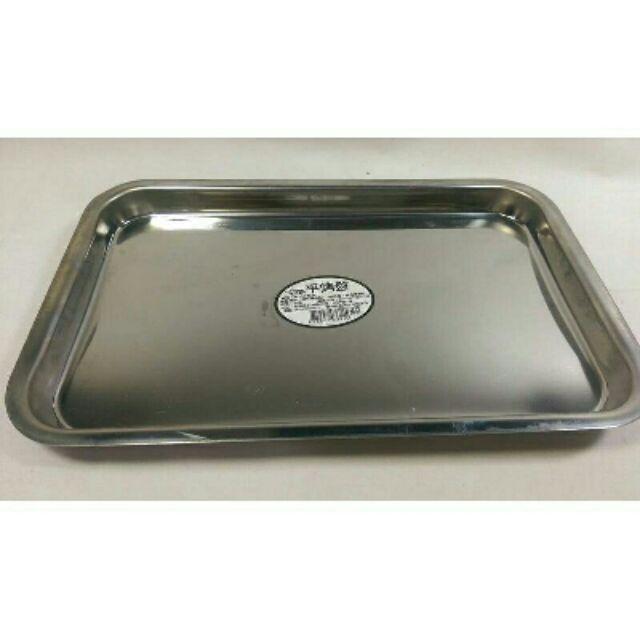 【 台灣製造430不銹鋼平(淺)烤盤】烤盤 烤箱  不鏽鋼烤盤