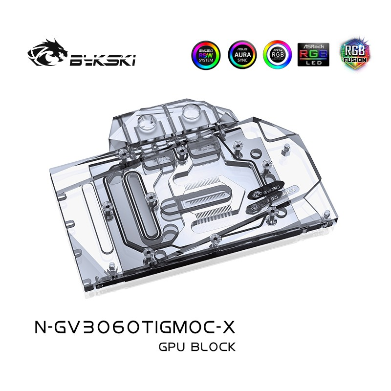 Bykski Water Block 用於技嘉 Geforce Geforce Rtx3060Ti Vision / E
