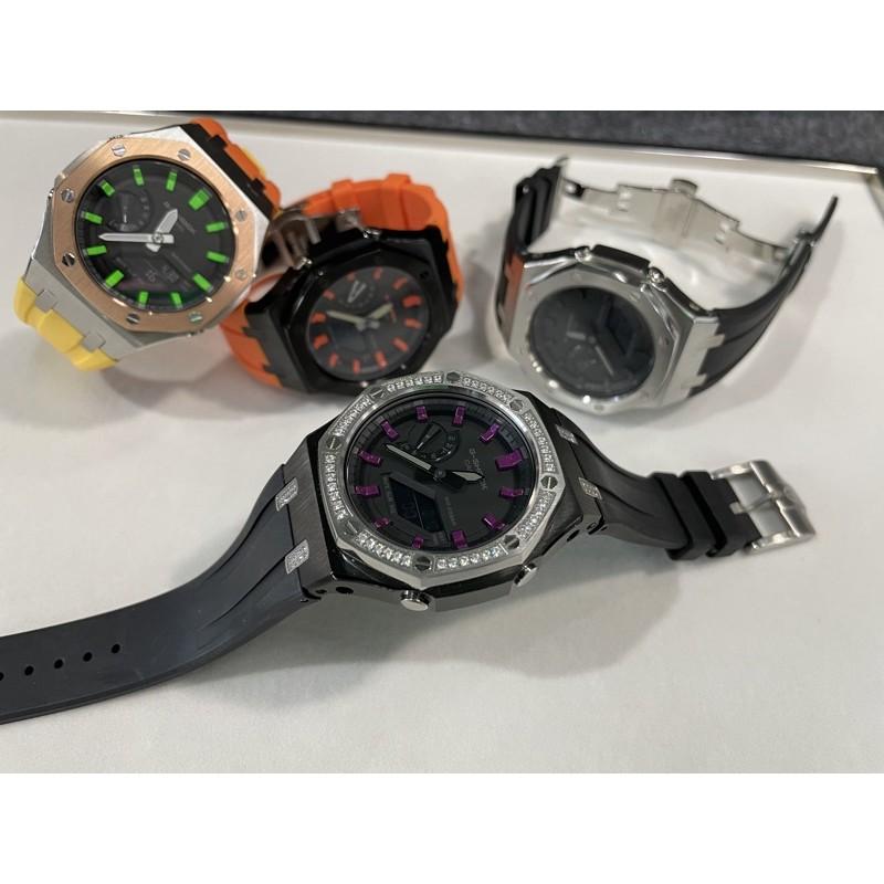 ★橡樹農夫★4代Plus 高階加強版 Ga2100 改裝 錶帶 錶殼 1A1 G-SHOCK 農家橡樹 AP手錶 拋光布