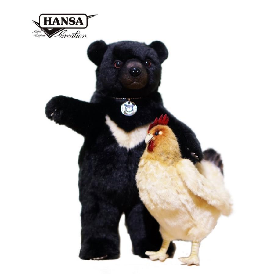 Hansa X 台灣黑熊保育協會-南安小熊妹仔與熊麻雞公益玩偶 限量999組