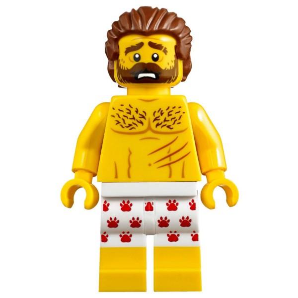 LEGO 樂高 城市系列 人偶  花褲男 裸奔逃犯 cty850 60173