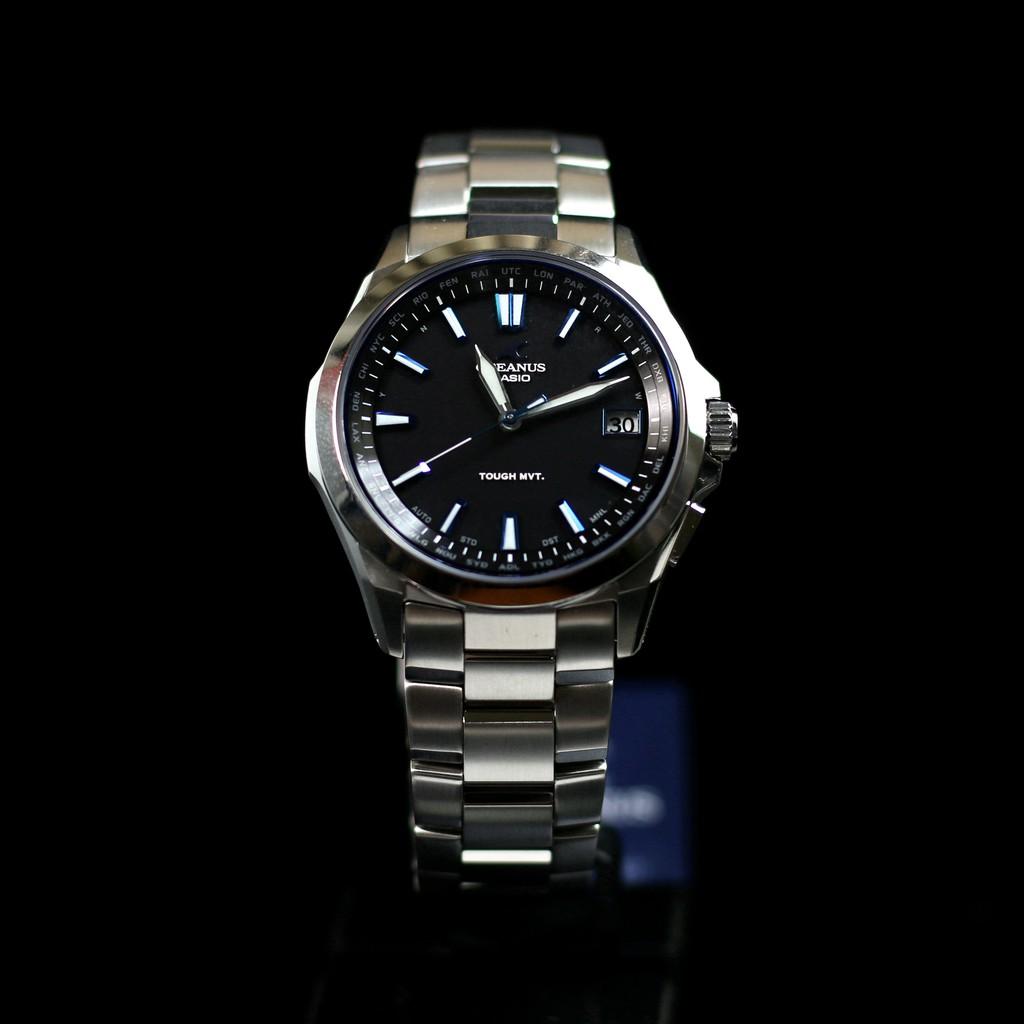 【日本原裝正品】卡西歐錶 OCEANUS海神女錶太陽能電波鈦金屬手錶 OCW-S100 S100B 黑 防水 夜光