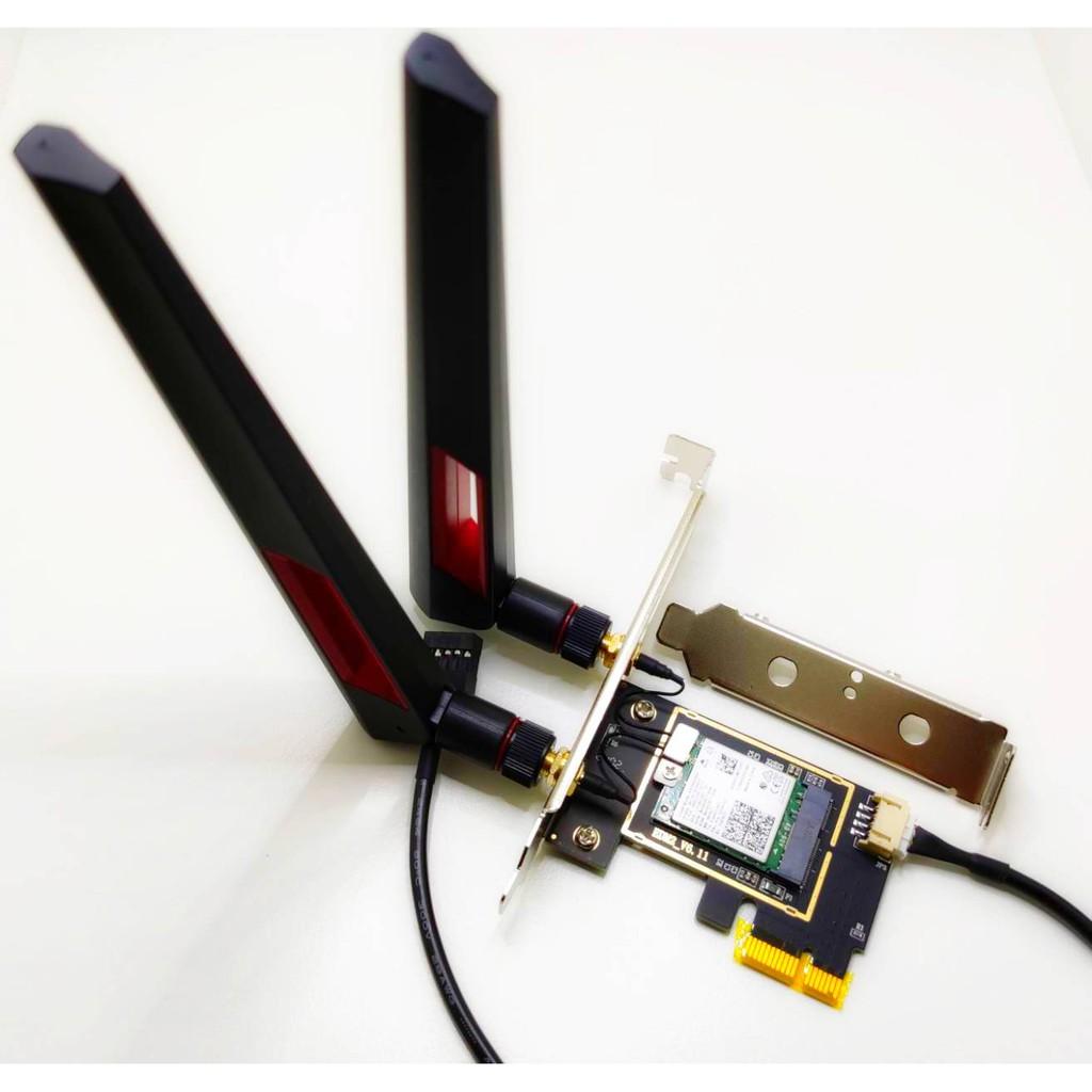 贈短擋板 台灣製 Intel AX200 AX210 WiFi6 6E桌上型電腦無線網路卡 藍牙5.1 5.2 PCIE