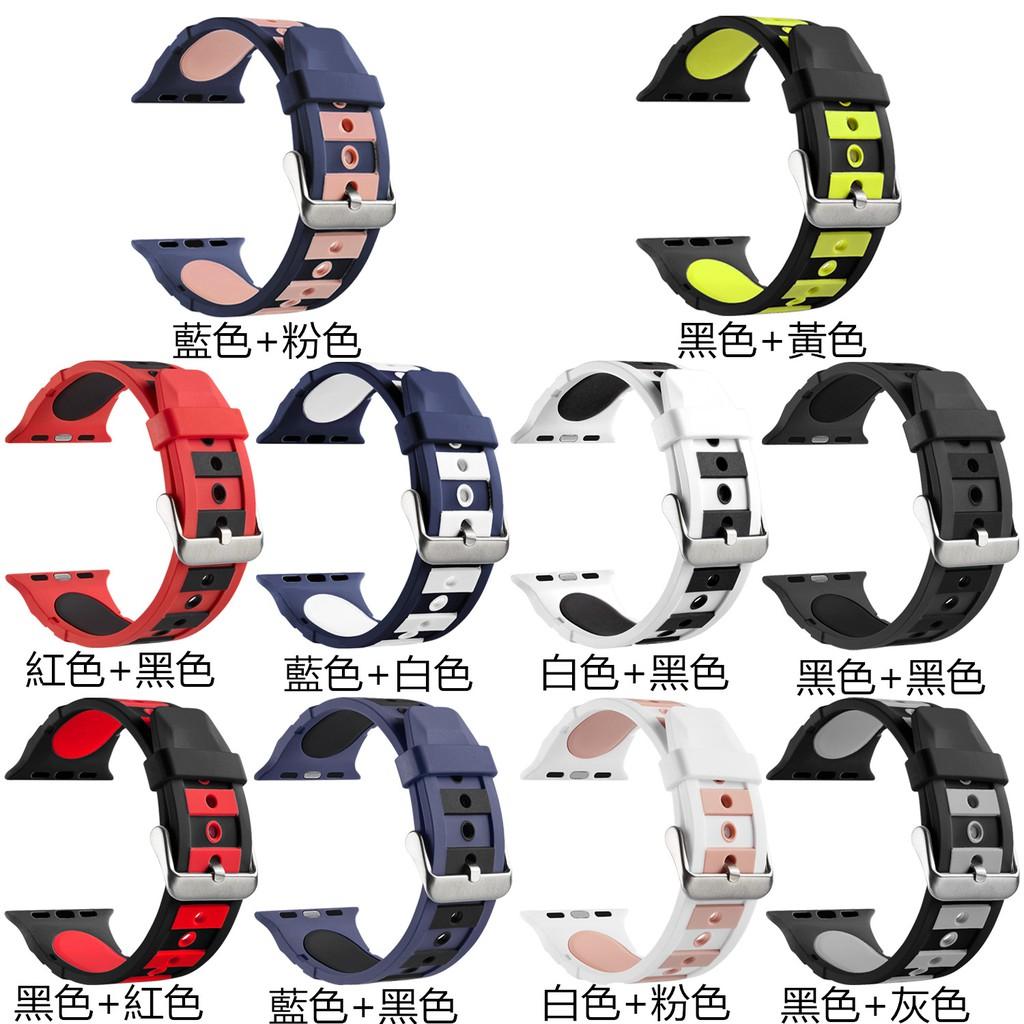 硅膠錶帶適用於apple watch智慧手錶 蘋果手錶 38mm 42mm手錶錶帶 蘋果手錶運動錶帶