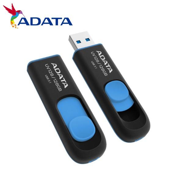 ADATA威剛 UV128 32G 64G 128G 256G USB 3.2 藍色 高速 隨身碟 原廠公司貨 廠商直送