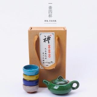 七彩冰裂釉茶具組禮盒 高雄市