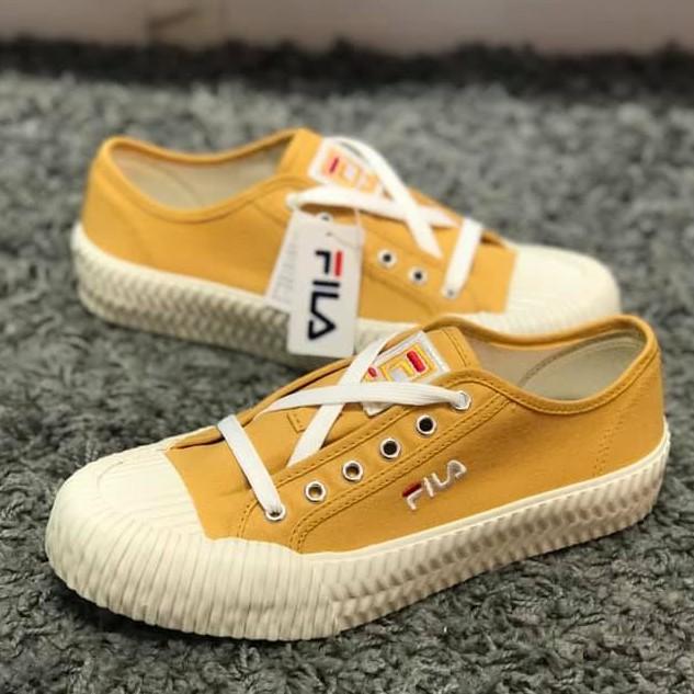 Fila 土黃色 餅乾鞋 帆布鞋 4-c320t-991 23 29cm [Q1現貨]
