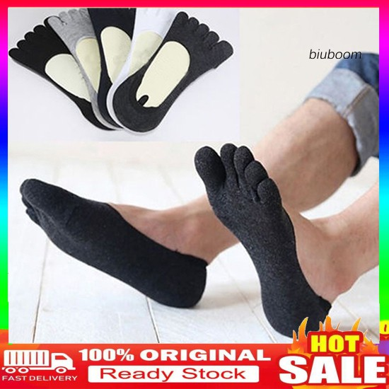 Biu _ 1pair 男士棉質防滑隱形Peds 襪子低款不露趾襪